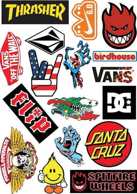 Roller Sticker by 17 Skateboard Stickers A4 Sticker Sheet Surf Skate Scooter