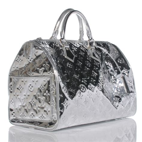 Visionaire Gets Wonkafied By Louis Vuittons Miroir by Louis Vuitton Monogram Miroir Mirror Speedy 35 Silver 42304