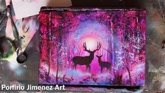 Paint My Bedroom deer in the forest spray paint art youtube