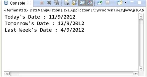 Calendar Class Java How To Add And Subtract Days To Current Date Using