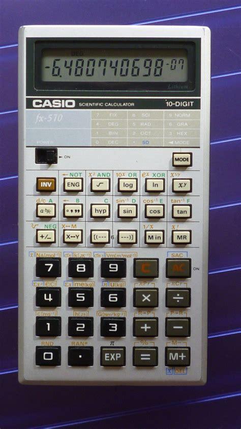 casio fx  casio fx  le rayon des calculatrices