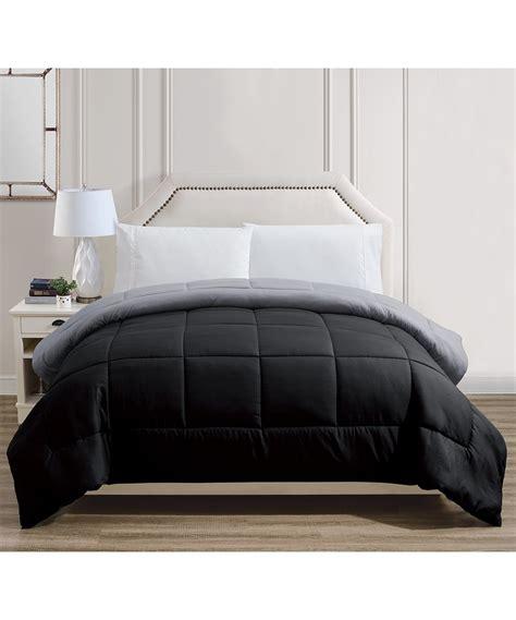 gray alternative down comforter ramallah trading company inc black gray reversible