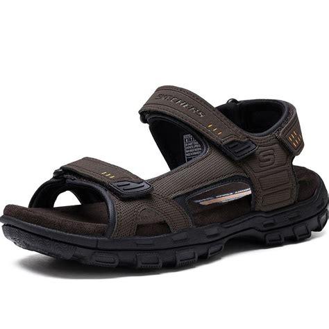 mens sketcher sandals skechers gander louden mens brown velcro water sport