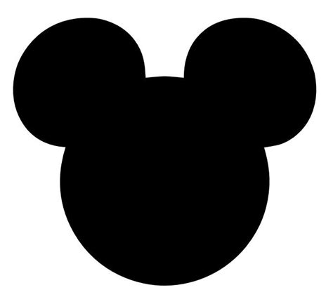Mickey Mouse Silhouette Clip by Mickey Silhouette Clipart