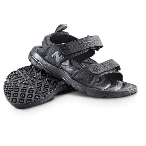 black mens sandals s new balance 174 rev plushfoam sandals black 234357