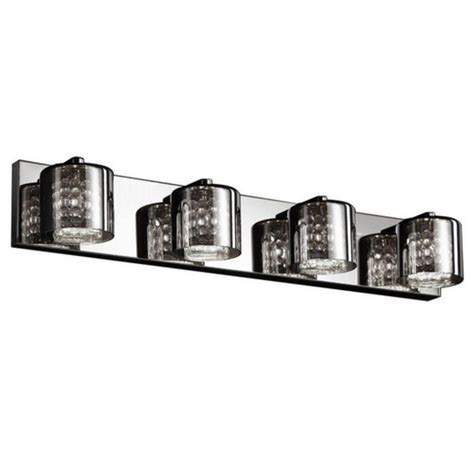 bathroom wall light fixture modern bathroom bath wall vanity light lighting fixture 4 glass lights chrome ebay
