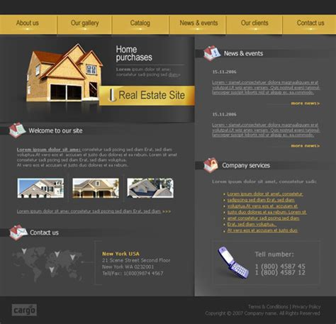 Free Country House Real Estate Web Template Poweredtemplate Com Country Website Template