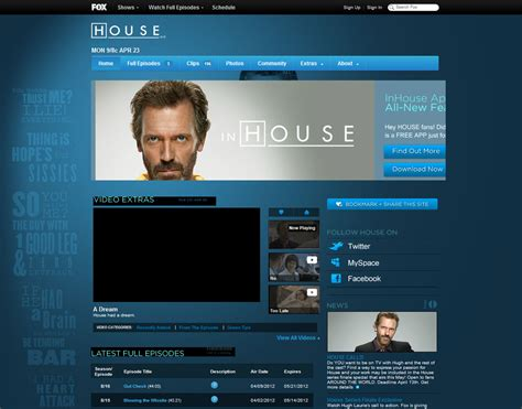 House Md Official Website Locky S Playground Tv Quotes House M D Season