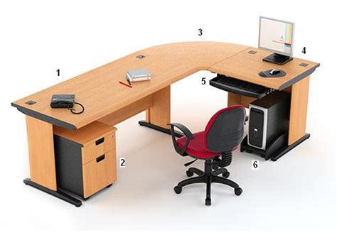 Meja Kantor highpoint 3 meja kantor five series warna cherry high point five