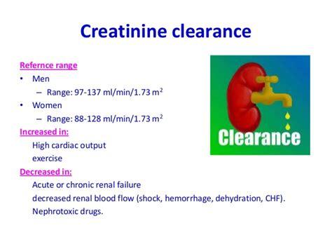 u creatinine normal range lab investig
