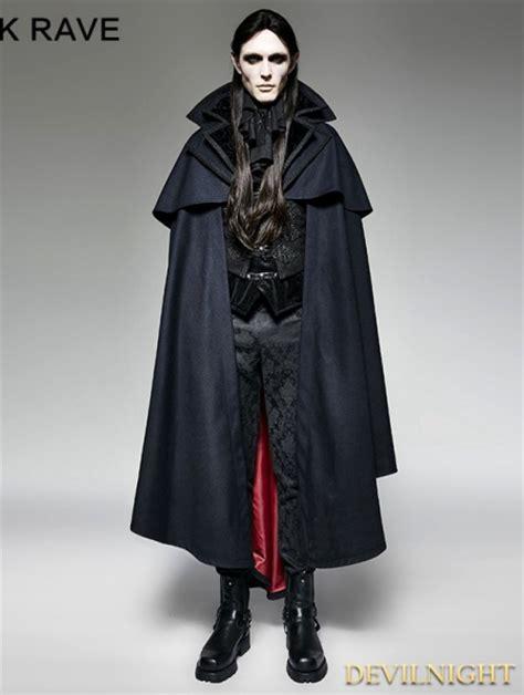 navy blue gothic vampire count cape coat  men