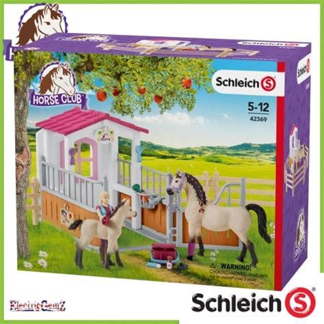 schleich stall schleich club stall with arab horses and groom