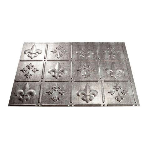 fleur de lis backsplash tiles fasade 24 in x 18 in fleur de lis pvc decorative tile