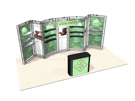 trade show display shelving 20 ft truss trade show booth display with shelving storage