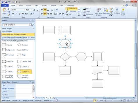 Shift Flowchart Shapes Automatically Visio Guy Microsoft Office Flowchart Template