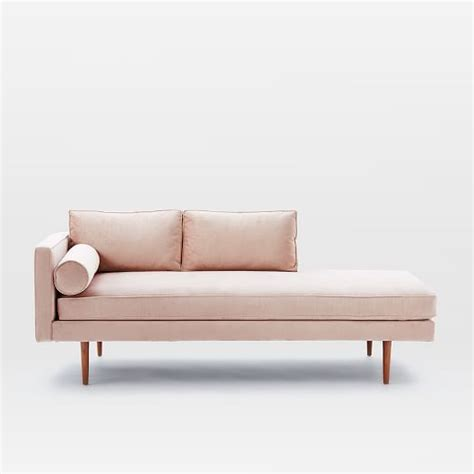 west elm chaise outdoor mid century chaise lounger west elm