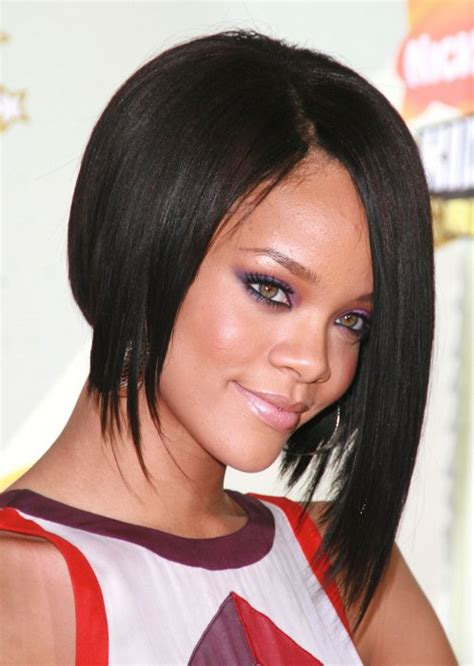 rihanna hairstyles bob haircut makes its debut on ellen todaycom rihanna a line bob hairstyle png women hairstyles