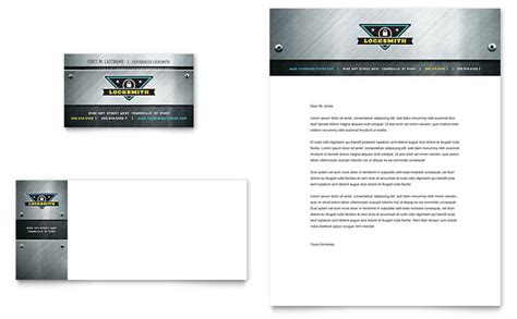 business cards letterhead templates locksmith business card letterhead template design