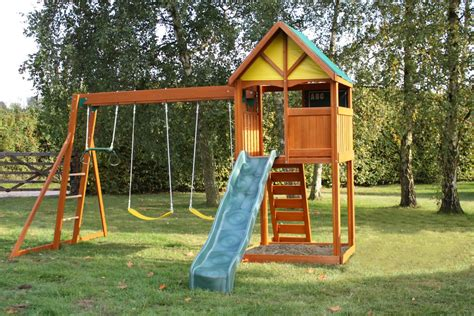 playhouse with swing set kids wooden climbing frame pre orders