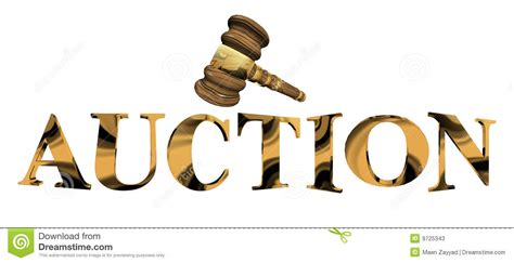 buy and bid auction in gold stock illustration illustration of