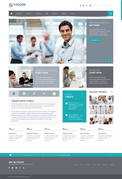 themes wordpress commercial cacoon business wp theme by wpthemes on deviantart