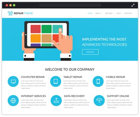 home repair sites top 10 computer it industry wordpress themes inkthemes