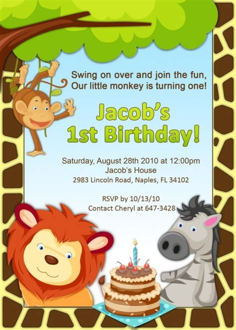 322 Best Animal Party Invitations Images On Pinterest Animal Party Reptiles And Birthday Safari Invitation Template Free
