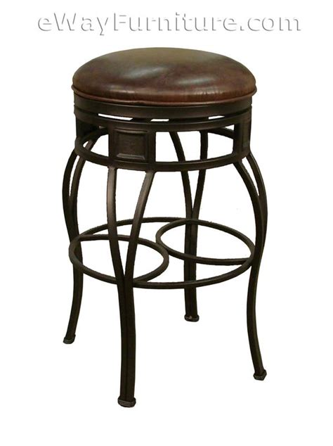 metal kitchen bar stools 2 valentino 26 quot backless metal swivel counter height