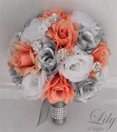 Wedding Bouquet Decorations by 17 Package Silk Flowers Wedding Bridal Bouquet