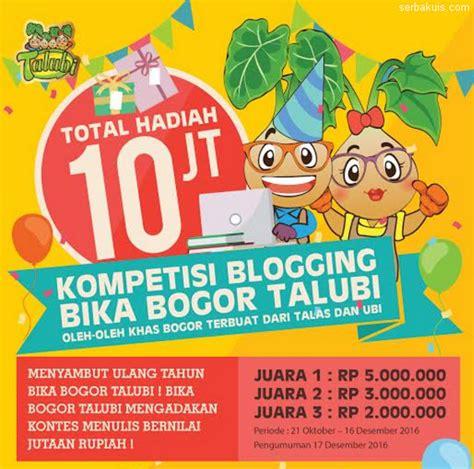 Costa Special Promotion Rp 3 2 Juta kompetisi blogging bika bogor talubi