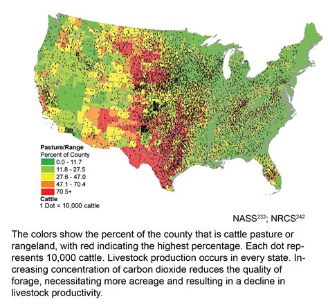 united states agriculture map climate change impacts in the united states maps charts