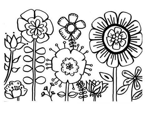types of flowers coloring pages coloring page of flowers sun flower etc gianfreda net