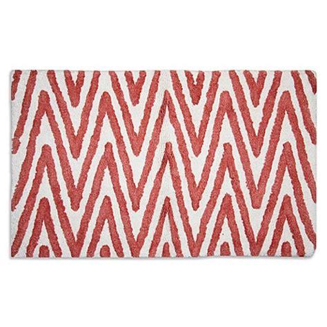 coral bathroom rug berros bath rug in coral white bed bath beyond