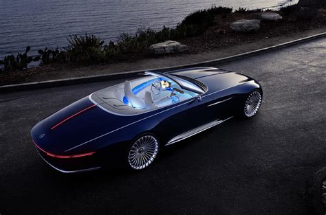 electric mercedes maybach 6 cabriolet concept car revealed
