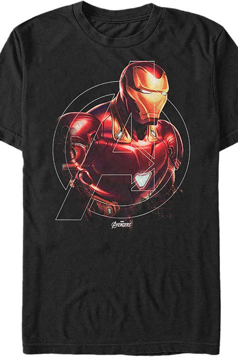 avengers logo iron man  shirt marvel comics mens  shirt