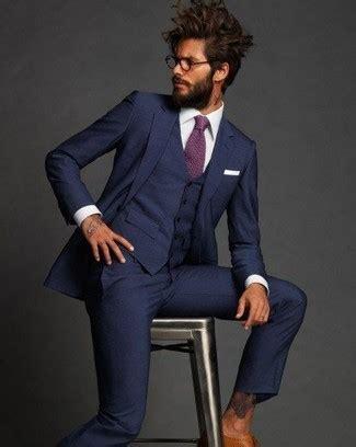 s white dress shirt purple tie white pocket square