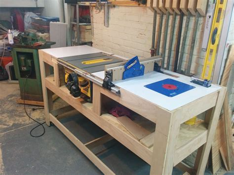 build a table saw bench table saw station album woodworking and bench