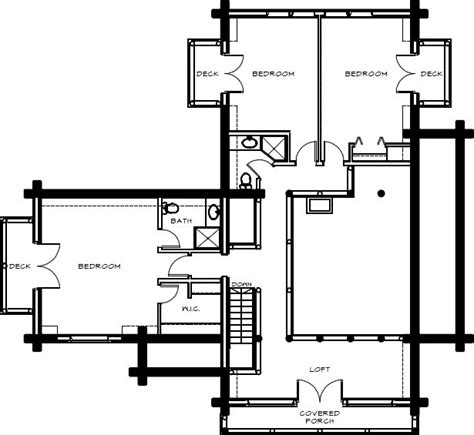 log home floor plans montana log homes floor plan 027