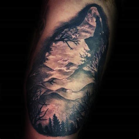 mountain silhouette tattoo 100 silhouette designs for shadowy illustration