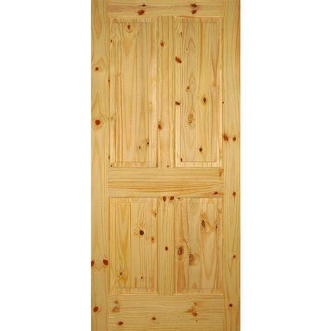 6 Panel Interior Doors Home Depot by Builder S Choice 36 In X 80 In 4 Panel Solid Core Knotty