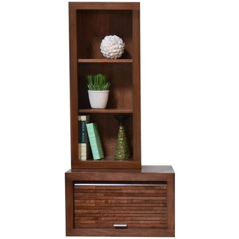 wall mount audio media cabinet bookcase eco geo mocha