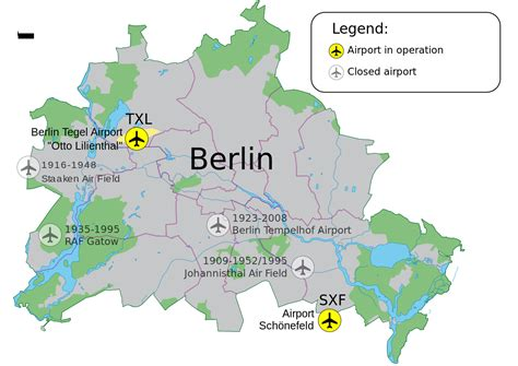 map of airports airports of berlin