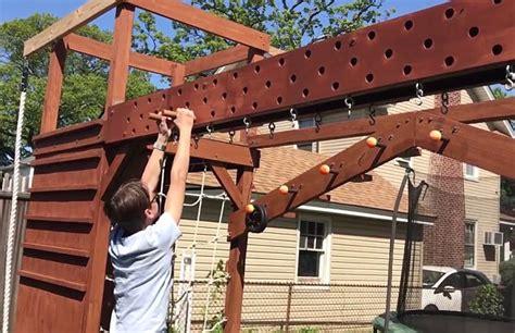 american ninja warrior backyard ny dad builds custom ninja warrior gym for 13 year old son