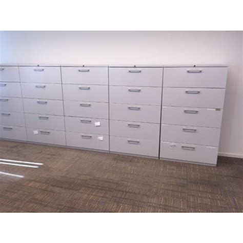 Haworth Lateral File Cabinet Haworth White Lateral File Cabinet 36 Quot W 5 Dr Cube Designs