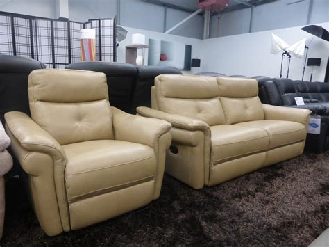 Power Recliner Vs Manual Recliner by Mizzoni Italia Beige Leather Manual Reclining Power