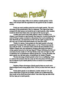 Against Penalty Essay by Penalty Agree Disagree Gcse Religious Studies Philosophy Ethics Marked By