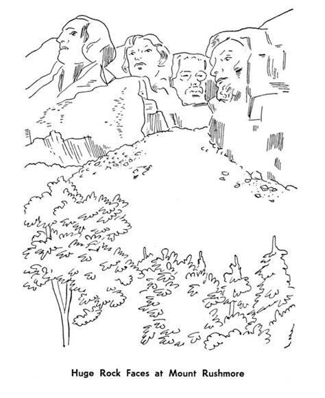 coloring page for mount rushmore mount rushmore coloring page coloring pages pinterest