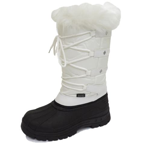 white warm winter snow ski thermal lace up