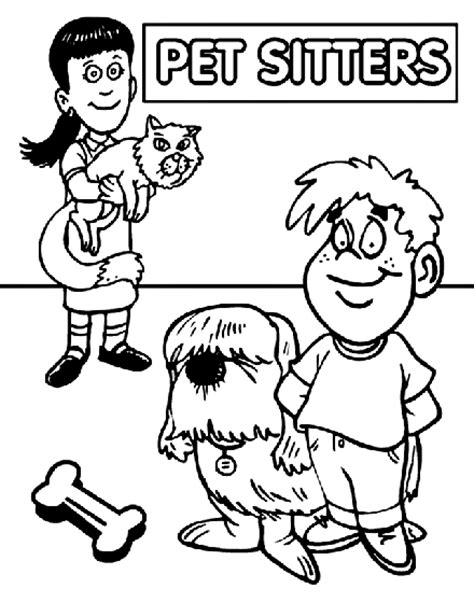 crayola coloring cat page pet sitter s day coloring page crayola com