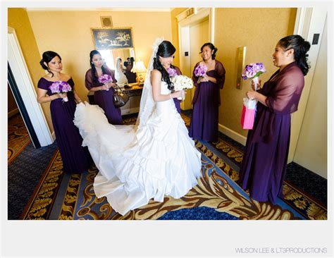 Asian Bride White Dress Purple Bridesmaid ? Triple Twist Blog